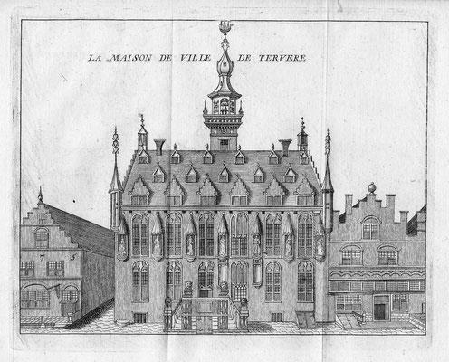 Stadhuis Veere. 15 x 20cm. Kopergravure uit 'Les délices des Pais-Bas' uitgegeven door Jean-Baptiste & PetrusFoppens. 1786. € 45,-