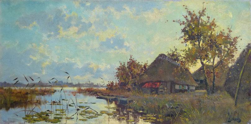 Pierre Hoeks olieverf schilderij