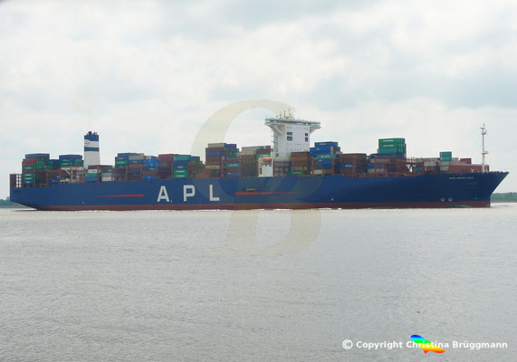 Containerschiff APL MERLION, Elbe 17.05.2019 / BILD 3