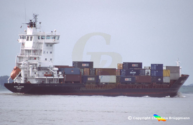 Containerschiff EURO STORM, Elbe 2005, BILD 2