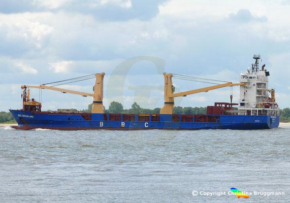 Mehrzweck- u. Schwergutfrachter BBC GREENLAND auf der Elbe 28.08.2018 /Bild 4