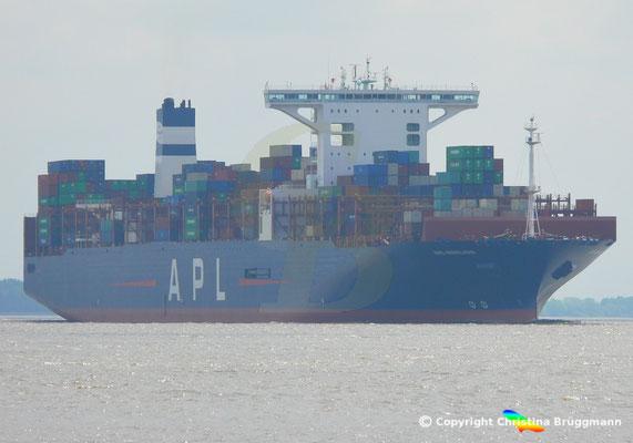 Containerschiff APL MERLION, Elbe 17.05.2019 / BILD 1