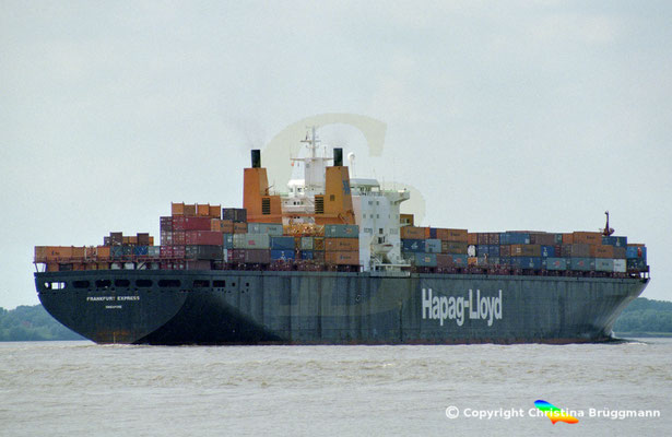 Hapag-Lloyd Containerschiff FRANKFURT EXPRESS, Elbe 2003,  BILD 5