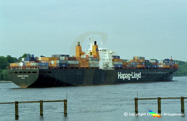 Hapag-Lloyd Containerschiff FRANKFURT EXPRESS, Hamburg 2002,  BILD 8