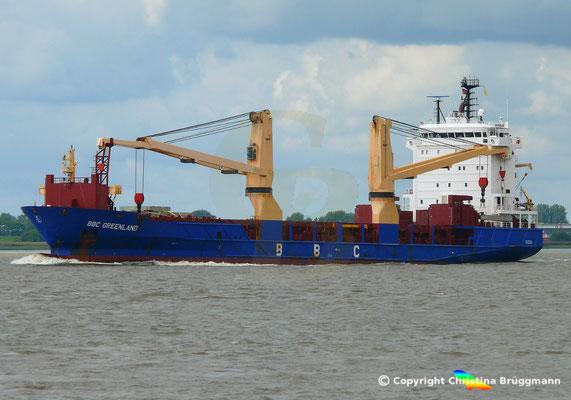 Mehrzweck- u. Schwergutfrachter BBC GREENLAND auf der Elbe 28.08.2018 /Bild 3