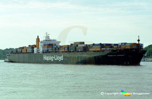 Hapag-Lloyd Containerschiff FRANKFURT EXPRESS, Hamburg 2002,  BILD 7