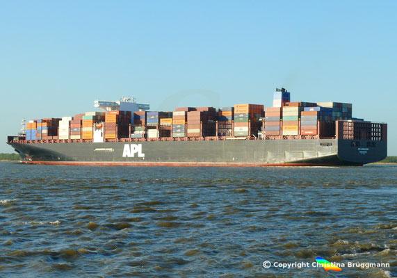 Containerschiff APL MERLION, Elbe 06.05.2015 / BILD 16