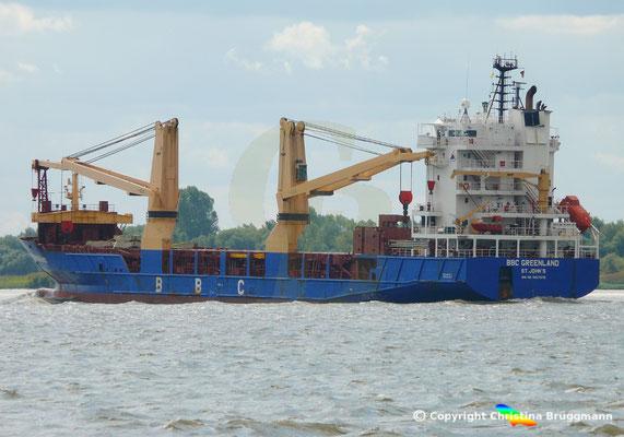 Mehrzweck- u. Schwergutfrachter BBC GREENLAND auf der Elbe 28.08.2018 /Bild 6