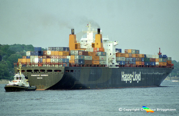 Hapag-Lloyd Containerschiff FRANKFURT EXPRESS, Hamburg 2002,  BILD 9