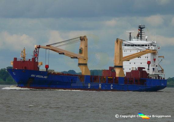 Mehrzweck- u. Schwergutfrachter BBC GREENLAND auf der Elbe 28.08.2018 /Bild 2