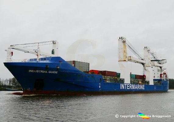 """Intermarine Heavy-Lift Vessel """"INDUSTRIAL GUIDE"""" auf dem NOK 31.12.2017"""