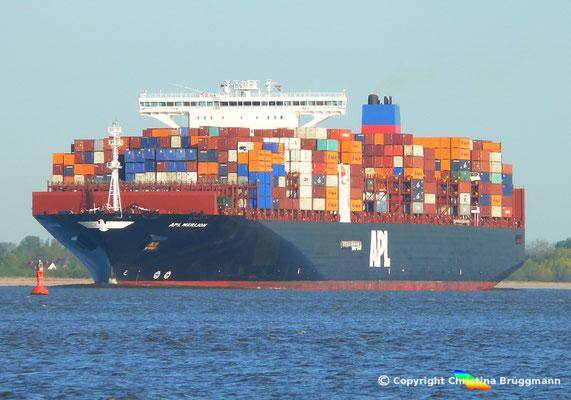 Containerschiff APL MERLION, Elbe 06.05.2015 / BILD 7