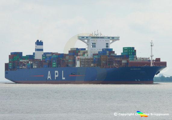 Containerschiff APL MERLION, Elbe 17.05.2019 / BILD 2