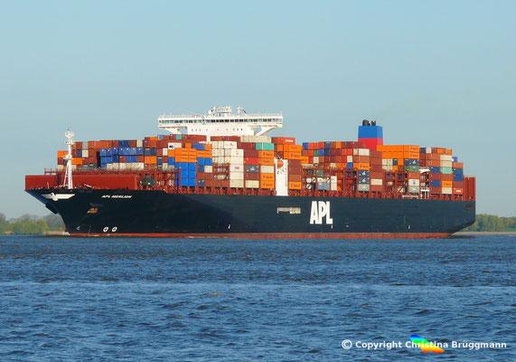 Containerschiff APL MERLION, Elbe 06.05.2015 / BILD 10