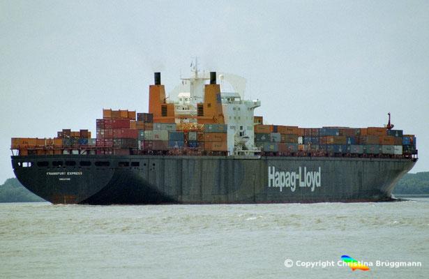 Hapag-Lloyd Containerschiff FRANKFURT EXPRESS, Elbe 2003,  BILD 4