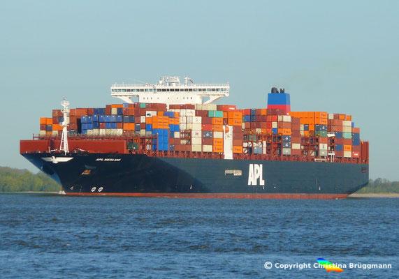 Containerschiff APL MERLION, Elbe 06.05.2015 / BILD 9