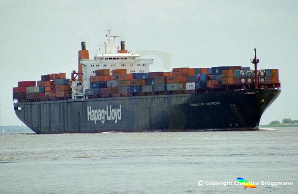 Hapag-Lloyd Containerschiff FRANKFURT EXPRESS, Elbe 2003,  BILD 1