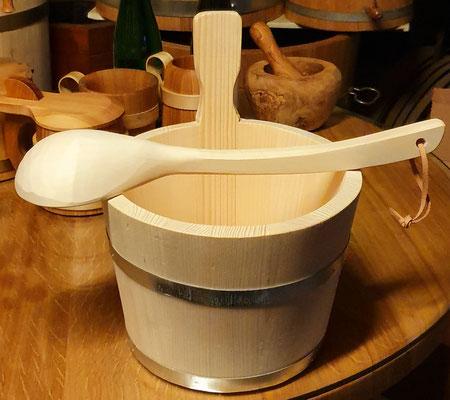 Saunakübel 5 Liter mit Saunakelle