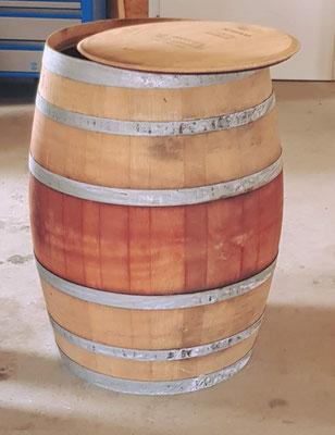 """""""Regenwasserfass"""" - Gefertigt aus einem gebrauchten Barriquefass/Weinfass."""