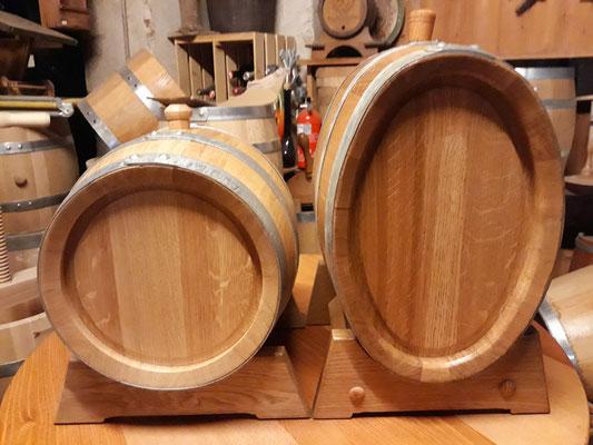 30 Liter Eichenfass rund und oval.