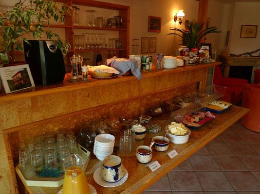 Frühstücksbuffet Pension Waldeck
