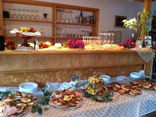 Hochzeitsbuffet Pension Waldeck