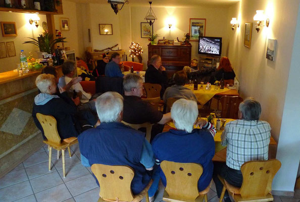 Public Viewing Fußball-WM Pension Waldeck