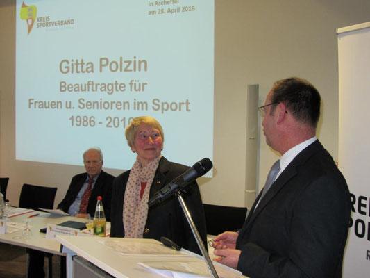 Abschiedsrede für Gitta Polzin