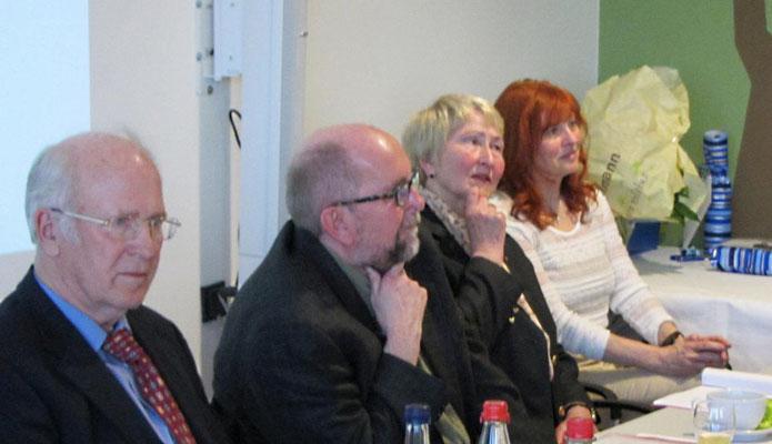 Dietrich Sendtko (2.Vorsitzender), Ernst Paasch (Kassenwart), Gitta Polzin (Beauftragte für Frauen und Senioren im Sport), Inge Dech (Sachbearbeiterin Sportabzeichen)