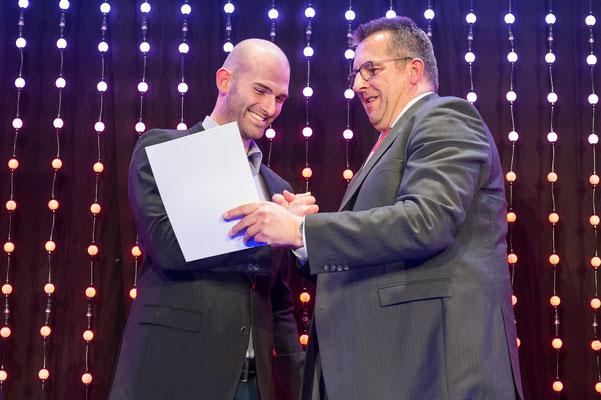 Lauritz Schoof mit Innenminister Stefan Studt (Foto: LSV/Frank Peter)