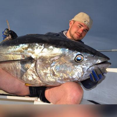 dicker  Fisch  am Haken!