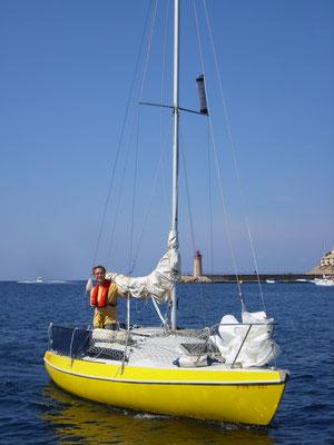 auch ein kleines  Segelboot  macht  Spass