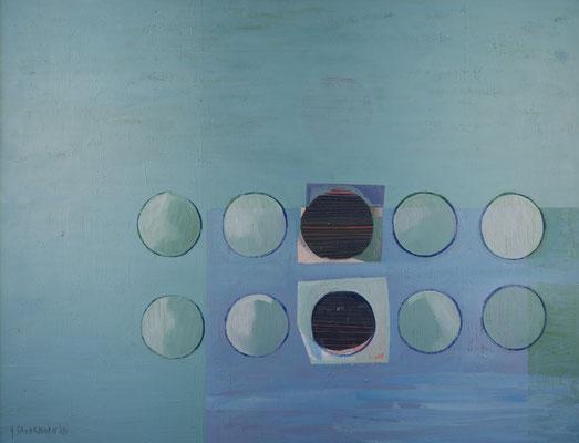 Nichts Neues in Sicht, 100x130, Acryl, Farbstift auf Leinwand, 2020