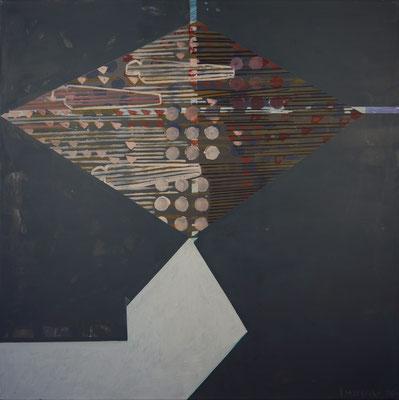 Jonglage, 120x120, Acryl auf Leinwand, 2020
