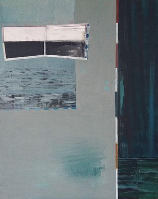 Geringer Wasserstand , 150x120,Acryl, Tusche a. Leinwand, 2015