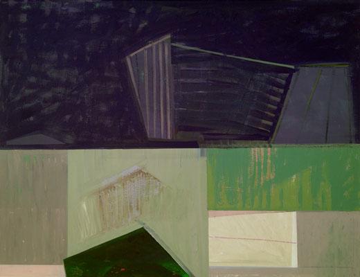 """ Still ruht der See"", 90x116, Acryl, Ölkreide a. Leinwand, 2021"