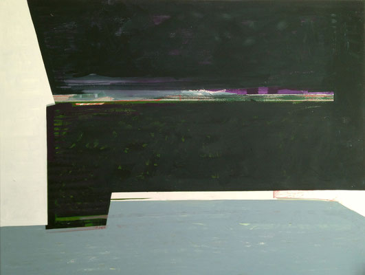 """ Nachtwache"", 90x116, Acryl, Ölkreide a.Leinwand, 2021"