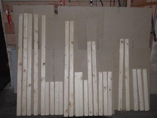 Einzelteile aus Holz