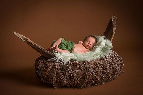 Fotokarte modern Geburt