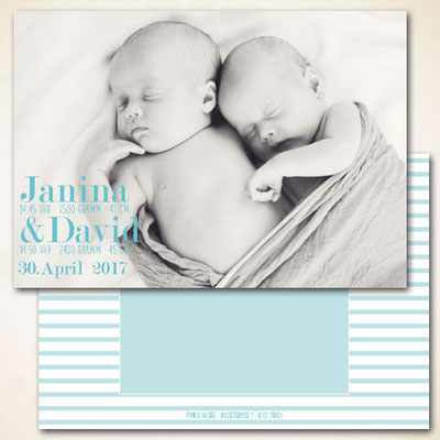 Twin Birth card