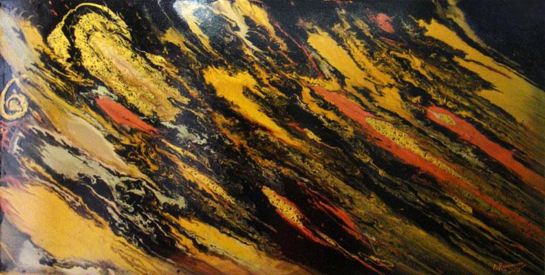 κώδικας №Α85, (60 x 120 cm) ακρυλικά χρώματα σε καμβά