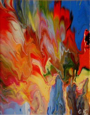 κώδικας №Α134, (24 x 30cm) ακρυλικά χρώματα σε καμβά