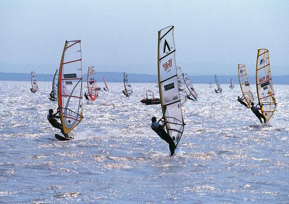 sailing at Lake Neusiedl