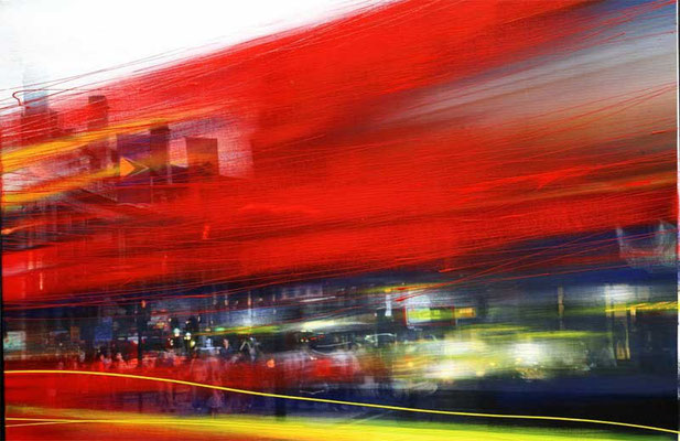 LONDON-BUS, 2015, FineArtPrint, Acryl auf Leinwand (Fotografie: Franz Marc Frei), 70 x100 cm