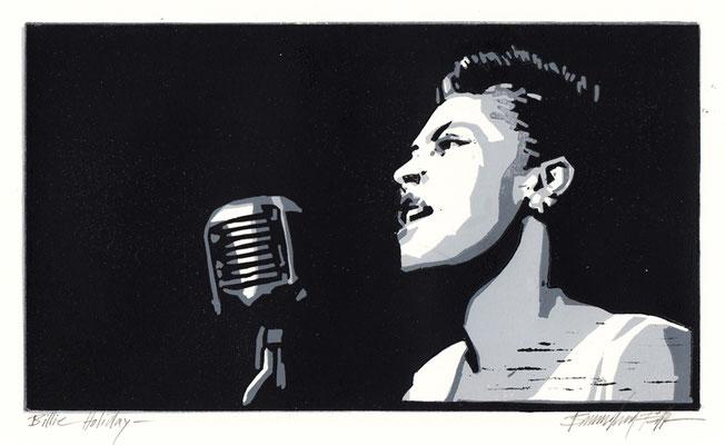 Billie Holiday, Linolschnitt