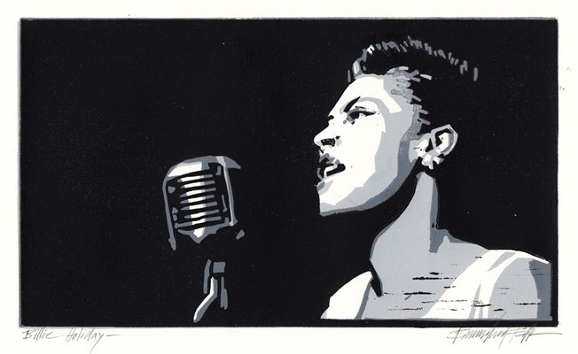 Billie Holiday, Linolschnitt
