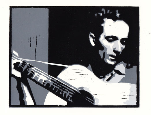 Woody Guthrie, Linolschnitt