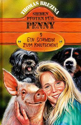 Titel: Ein Schwein zum Knutschen, Kunde. HPT Verlag,  Technik: Bleistift, Acryl, Airbrush, Entstehung: 1996