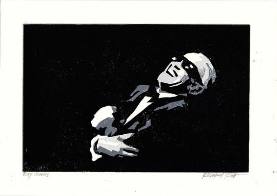Ray Charles, Linolschnitt
