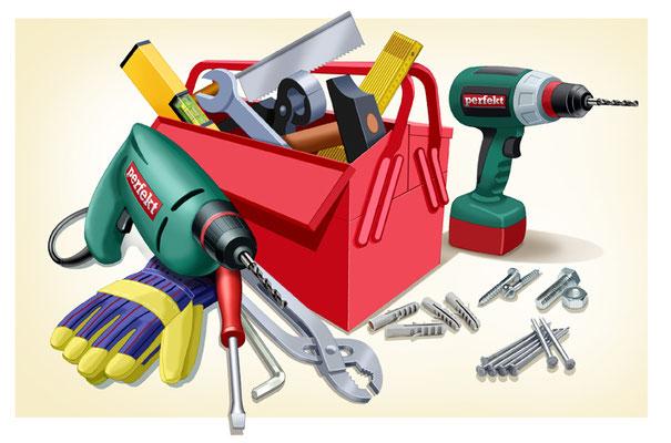 Titel: Werkzeug, Kunde: Spotlight Verlag, Technik: Fineliner, Photoshop, Entstehung: 2014